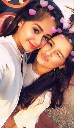 Jannat Zubair and Avneet Kaur were true friends Cute Girl Photo, Girl Photo Poses, Girl Photography Poses, Girl Photos, Stylish Girls Photos, Stylish Girl Pic, Teen Celebrities, Celebs, Sister Poses