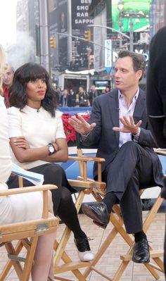 Kerry Washington and Tony Goldwyn (Kerry's not having any of this!) on Good Morning America, January 30th 2013