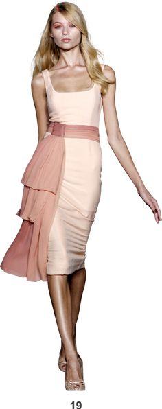 L'Wren Scott --Pink-peach dress