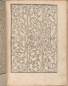 New Modelbüch allen Nägerin u. Sydenstickern (Page 16r).  Hans Hoffmann.  1556.