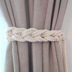 Curtain Tie Backs..Set of Two..Nursery Curtain TieBacks..Gypsy | Etsy Pink Curtains Nursery, Nautical Curtains, Coastal Curtains, Elegant Curtains, Burlap Curtains, Boho Curtains, White Curtains, Curtain Hangers, Curtain Holder