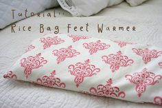 Rice Bag Feet Warmer with removable cover