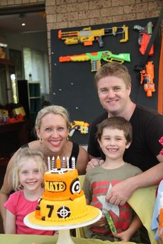 Nerf Party like this families cake