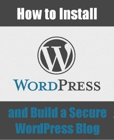 How to install wordpress manually and securely