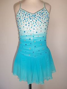 Custom Made to Fit Ice Skating Baton Twirling Dress | eBay