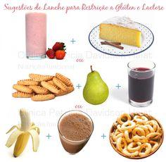 Nesse link tem várias ideias para lanches sem glúten e sem lactose.