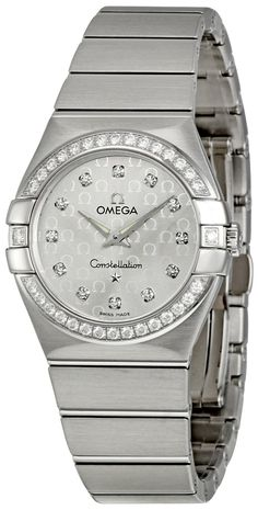 Omega Women's Constellation Silver Dial Watch Quality Watches on SALE ! Elegant Watches, Stylish Watches, Casual Watches, Beautiful Watches, Luxury Watches, Cool Watches, Men's Watches, Rolex Diamond Watch, Diamond Watches For Men
