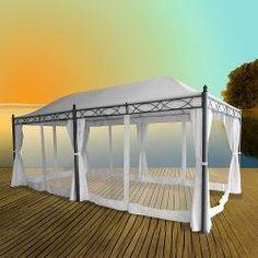 [Pavillon / Gartenpavillon Doha 3,0 x 5,9 m Gartenzelt Metallpavillon Partyzelt]