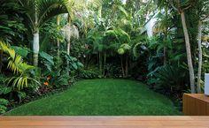 A tropical garden landscape introducing flow | Zones