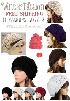 Slouchy hat for women, would make a great gift idea for a tween, teen or Momma, Fashion Deals with free shipping