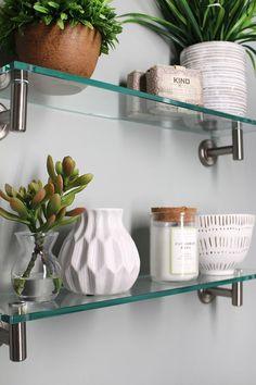 19 best glass shelves in bathroom images bathroom small shower rh pinterest com