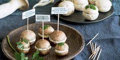 Cuisiner des champignons comme des petits macarons Macarons, Baked Potato, Cheesecake, Stuffed Mushrooms, Gluten, Potatoes, Baking, Vegetables, Breakfast