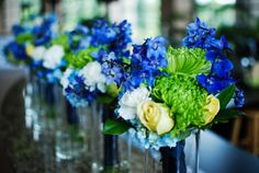 Cool palette bridesmaid bouquets #dorothymcdanielsflowermarket #cool #blue #bridesmaid