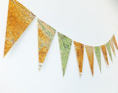 Map Bunting British Map Pennants Deeside Map by PeonyandThistle £15