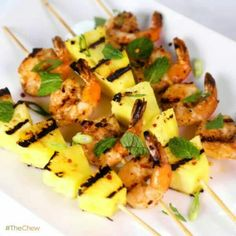 Grilled shrimp and pineapple! !