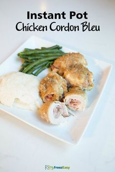 Instant Pot Chicken Cordon Bleu - MyFreezEasy This Homemade Dish Is Crispy And Delicious, Filled With Cheese And Ham. It Is An easy Version Of The Famous French Meal That Is Ready In About One Hour. . Easy Chicken Cordon Bleu, Chicken Cordon Bleu Casserole, Good Fried Chicken, Chicken Ham, Chicken Kiev Recipe, Chicken Recipes, Pressure Cooker Chicken, Pressure Cooker Recipes, Slow Cooker Sloppy Joes