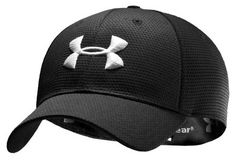 Under Armour Men's UA Blitzing Stretch Fit Baseball Cap Hat (Medium/Large, Midnight Navy/White). All-over performance mesh accelerates dry time. Upf Built-in sweatband keeps you dry. Reflects heat and IR rays to keep you cooler than ever. Fitted Baseball Caps, Fitted Caps, Baseball Hats, Men's Accessories, Herren Style, Estilo Fashion, Under Armour Men, Hat Sizes, Hats For Men