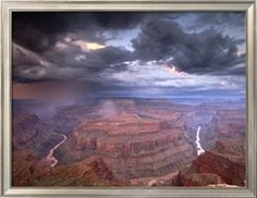 Monsoon Storm in the Grand Canyon, Alarcon Terrace, Conquistador Aisle, Grand Canyon, Arizona Photographic Print by David Edwards at Art.com