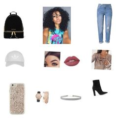 """""""All natural collage girl"""" by jaelyn-watkins on Polyvore featuring WithChic, MICHAEL Michael Kors, Topshop, Kate Spade, Jessica Carlyle, Gianvito Rossi, Humble Chic and Lime Crime"""
