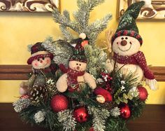 A personal favorite from my Etsy shop… Winter Flower Arrangements, Christmas Arrangements, Floral Arrangement, Victorian Christmas, Country Christmas, Winter Centerpieces, Table Centerpieces, Christmas Decorations For The Home, Christmas Crafts