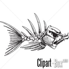 CLIPART EVIL FISH SKELETON