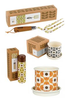 Orla Kiely garden tools, collaboration with Wild & Wolf. Hoping they come out in the U.S. soon!