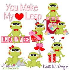 Love Frogs SVG-MTC-PNG plus JPG Cut Out Sheet(s) Our sets also include clipart in these formats: PNG & JPG