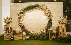 Backyard Wedding Ideas Backdrop 52 Super-Ideen the backyard Wedding Backdrop Design, Wedding Hall Decorations, Rustic Wedding Backdrops, Wedding Reception Backdrop, Backdrop Decorations, Wedding Ideas, Wedding Signs, Rustic Backdrop, Engagement Decorations
