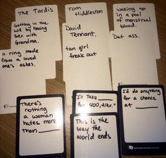 "Cards against humanity blank cards: except that ""this is the way the world ends"" is technically already a card"