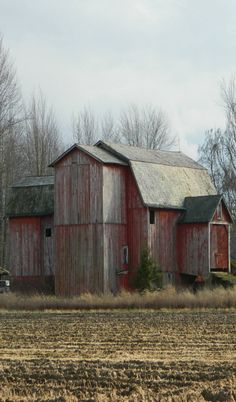 Weathered Old Farm Barn