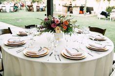 wedding receptions - photo by Plum and Oak http://ruffledblog.com/a-california-garden-wedding-with-romantic-florals