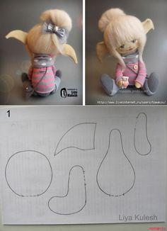Doll body for crafting Blank doll body Doll making Cloth HaWe sew a toy Diy Rag Dolls, Sewing Dolls, Elf Doll, Doll Toys, Homemade Dolls, Sock Dolls, Doll Tutorial, Fairy Dolls, Doll Crafts