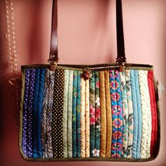 Bolsa em patchwork - nice project bag idea                                                                                                                                                                                 Más