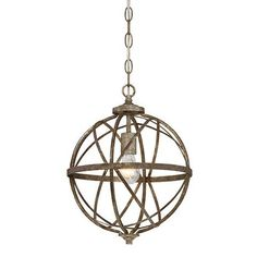 Lakewood Orb Chandelier in Blackened Silver                           | Lighting Connection