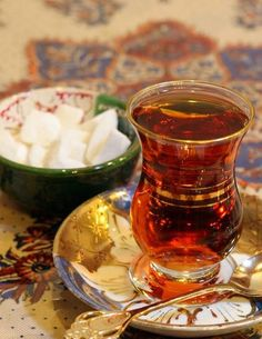 """Çay"". Our tea is the best. My favourite thing that I drink all day"