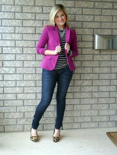 purple blazer inspiration