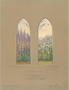 Design for McCormick Windows Louis Comfort Tiffany, 1922. More variations at link.