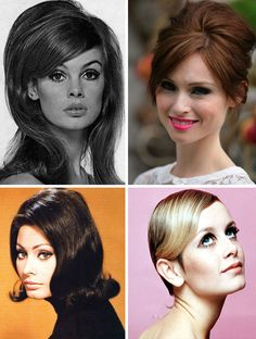 60s hair...I think this is why I can't be bothered now!!!...too thick and long...xoxo