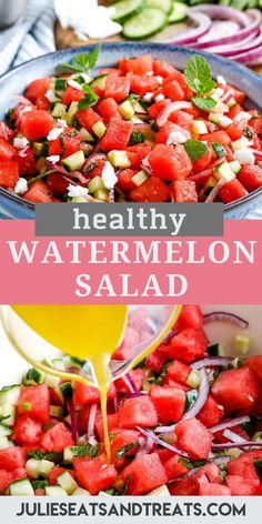 Cucumber Watermelon Salad, Feta Salad, Watermelon Recipes, Ham Salad, Asparagus Salad, Shrimp Salad, Chicken Salad, Salads