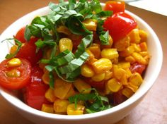 Some ingredients are just indissociable from summer; corn and tomatoes are two such ingredients. When fresh corn and ripe tomatoes are at their peak, it can seem like blasphemy to do anything to change them… but trust us: this pan-roasted corn and tomato salad recipe offers just enough modification to bring out the best in both.