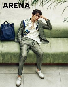Vibrant sportswear, contemporary tailoring and exceptional accessories—actor Lee Dong Wook, 이동욱, takes a star turn in pieces from the Ferragamo Spring 2017 Men's collection in the March issue of Arena Homme Plus Korea. Korean Wave, Korean Star, Korean Guys, Lee Dong Wok, Song Joong, Park Hyung, Choi Jin, Park Bo Gum, Vogue Korea