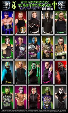 Chris Jericho Poster featuring his various looks & ring gear throughout his career.
