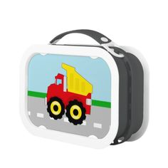Shop Kids Boys Construction Dumptruck Lunch Box created by cutencomfy. Construction Theme, Dump Trucks, Boy Decor, Lunch Boxes, Primary Colors, Kids Boys, Cute Kids, Kids Shop