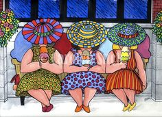 #406 The Girls Having Ice Cream - Carolyn Stich Studio