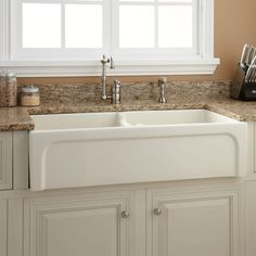 """Farmhouse Kitchen Sinks 35"""" reena nickel plated copper farmhouse sink with hammered"""
