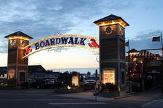 The Boardwalk looks so pretty at night. Put-in-Bay, Ohio