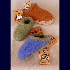 Children's felted slipper pattern...these look fantastic, recommended by Mazzaus