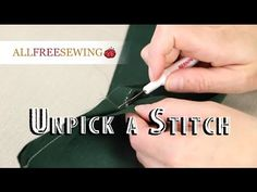 Removing Serger Stitches The Easy Way!! - YouTube