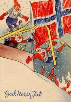 Vintage Norwegian Christmas postcards