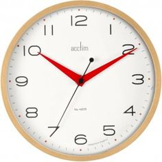 Carnegie Light Wood Wall Clock 22cm - Also available in Dark Wood
